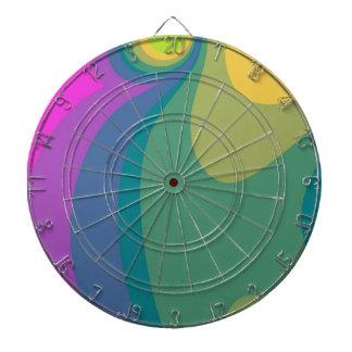 Colorful Psychedelic Swirls Dartboard