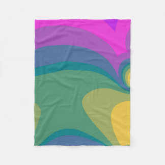 Colorful Psychedelic Swirls Fleece Blanket