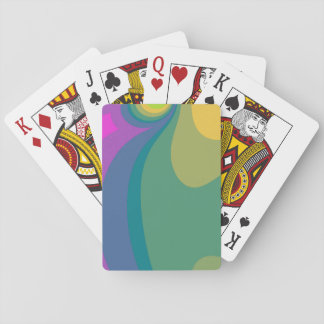 Colorful Psychedelic Swirls Playing Cards