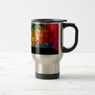 Colorful psychedelic travel mug