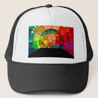 Colorful psychedelic trucker hat