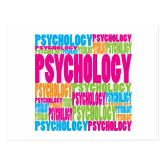 Colorful Psychology Postcard