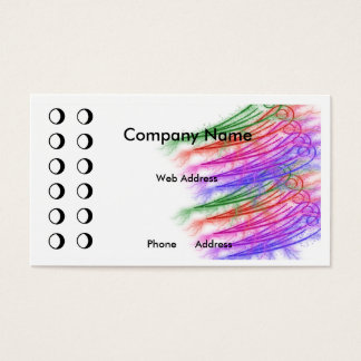 Colorful Punch card Business Card