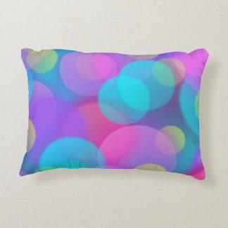 Colorful Purple Blue Tones Bokeh Lights Art Decorative Pillow