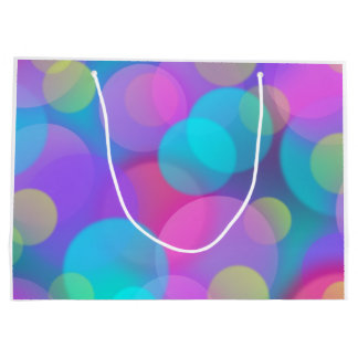 Colorful Purple Blue Tones Bokeh Lights Art Large Gift Bag