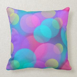 Colorful Purple Blue Tones Bokeh Lights Art Throw Pillow