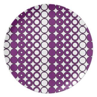 Colorful Purple Circle Pattern Plate