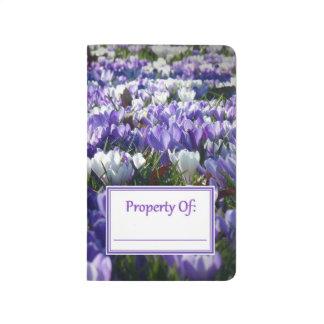 Colorful Purple Crocuses Personal Journal