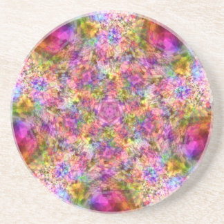 Colorful Purple Design Coaster