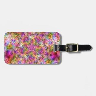 Colorful Purple Design Luggage Tag