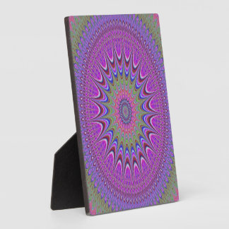 Colorful Purple Mandala Plaque