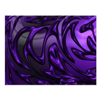 Colorful purple postcard