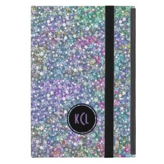 Colorful Purple Tint Glitter And Sparkles iPad Mini Case