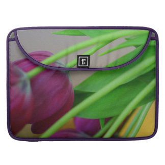 Colorful purple tulips MacBook pro sleeve