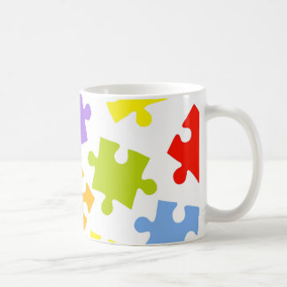 Colorful puzzle pattern coffee mug