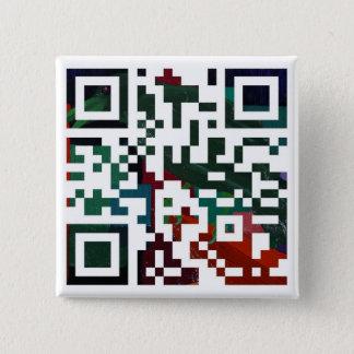 Colorful Q R Code 2 Inch Square Button