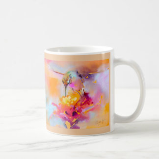 """""""Colorful Quaff"""" Hummingbird Print Coffee Mug"""