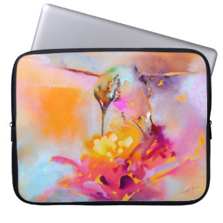 """Colorful Quaff"" Hummingbird Print Laptop Sleeve"