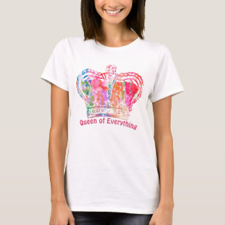 Colorful Queen Crown T-Shirt. T-Shirt
