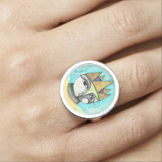 Colorful Queen Ring - Silver