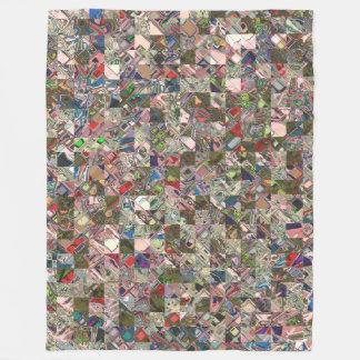 Colorful Quilt Pattern Fleece Blanket