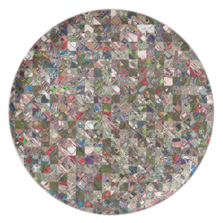 Colorful Quilt Pattern Plate