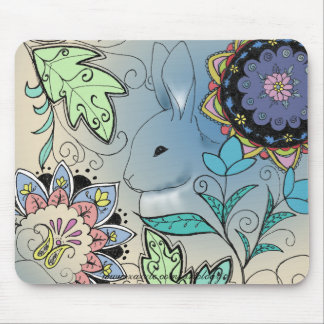 Colorful Rabbit Mouse Pad (horizontal)