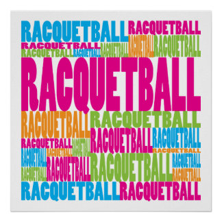 Colorful Racquetball Poster