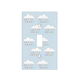 Colorful rain light switch cover