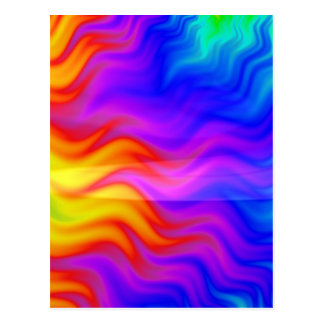 Colorful rainbow abstract 3D art Postcard