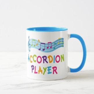 Colorful Rainbow Accordion Player Gift Mug