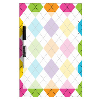 Colorful Rainbow Argyle Diamond Pattern Teen Gifts Dry Erase Board