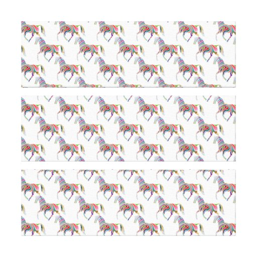 Colorful Rainbow Artistic Horse Pattern Stretched Canvas Prints