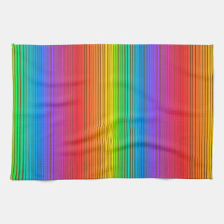 Colorful Rainbow Background Kitchen Towel