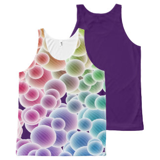 Colorful Rainbow Bubbles All-Over-Print-Top