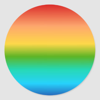 Colorful Rainbow color gradient Round Sticker