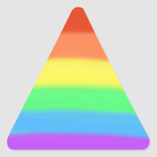 Colorful Rainbow Colors Choose Shape Stickers