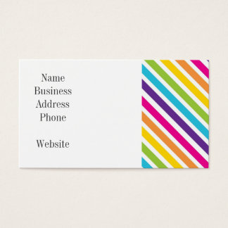 Colorful Rainbow Diagonal Stripes Gifts for Teens Business Card