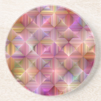 Colorful Rainbow Diamond Design Coaster