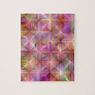 Colorful Rainbow Diamond Design Jigsaw Puzzle