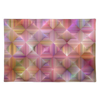 Colorful Rainbow Diamond Design Placemat