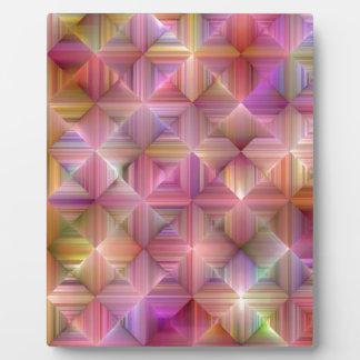 Colorful Rainbow Diamond Design Plaque