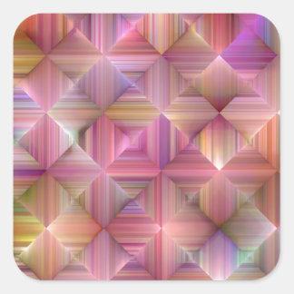 Colorful Rainbow Diamond Design Square Sticker