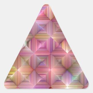 Colorful Rainbow Diamond Design Triangle Sticker