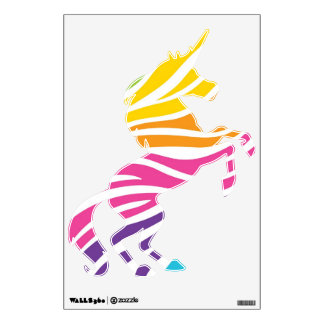 Colorful Rainbow Fantasy Unicorn Wall Decals