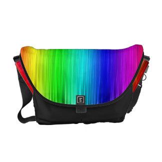 Colorful Rainbow Fibers Messanger Bags Courier Bag