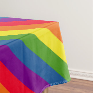 Colorful Rainbow Flag Gay Pride Tablecloth