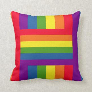 Colorful Rainbow Flag Gay Pride Throw Pillow