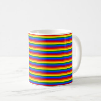 Colorful Rainbow Flag LGBT Striped Pattern