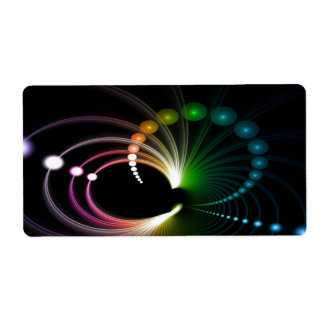 Colorful Rainbow Fractal Art Shipping Label